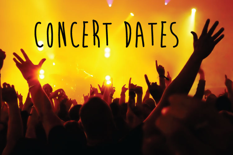 Concert dates: March