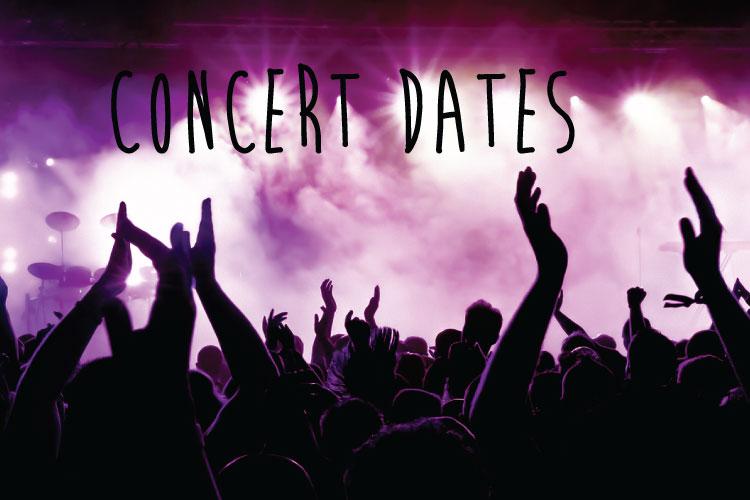 Concert dates: April