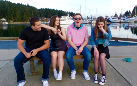 From left to right: Hayden Smith, Jessica Brewster, Justin Crippen, and Kaitlyn Sanders.
