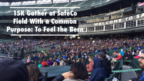 Image of Crowd Filling Up SafeCo Field for Bernie Rally