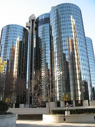 The Westin Bonaventure, where the journalism convention was held. Photo credited to Wikipedia.