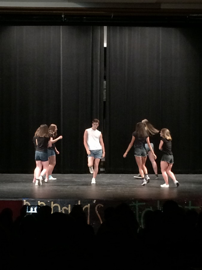 Jonathan Brewster lit up the Talent Show with his dance moves.