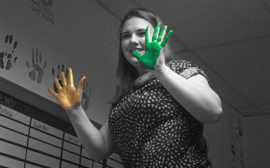 Meghan Laasko making her mark on Outlook's Wall of Fame.