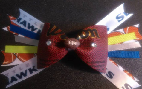 One of Marlana Burns' DIY football bows.