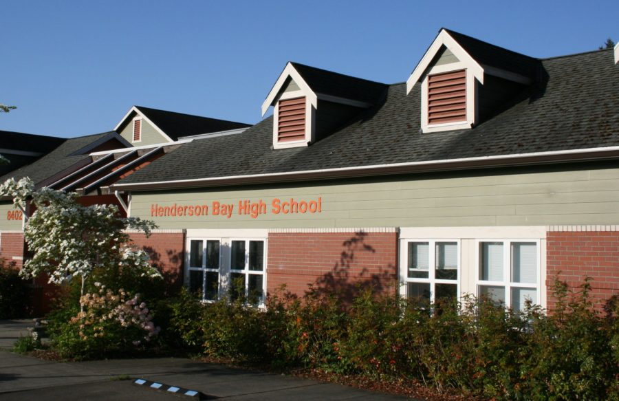 Clear blue skies at Henderson Bay High School.