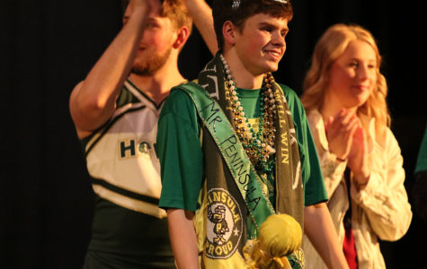 Tyler Sommer decked out in his Mr. Peninsula attire.