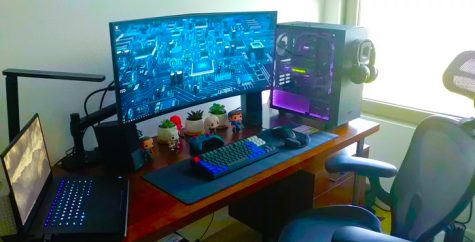 Awesome set up for playing video games.