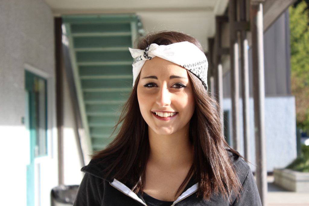 """Senior  Brianne Fisher: """"I'll probably be hanging out with friends and spending Christmas with my family."""""""