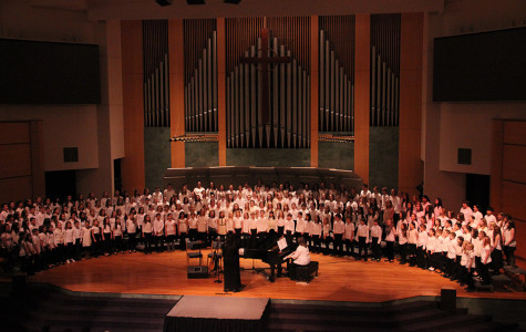 A group shot of the all the elementary choir students, which added up to over 200 students.