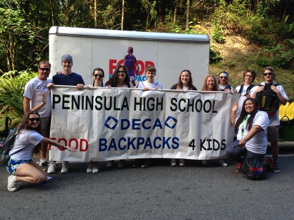 DECA is dedicated to the project Food Backpacks 4 Kids and leads an annual fundraiser in the school to make a contribution to the community.