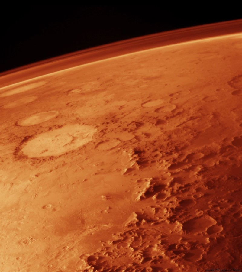 The presence of liquid water on the surface of Mars was confirmed on September 28. Photo credited to Wikipedia.