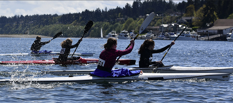 Reporter, Noelle Misterek, captures the flowing positivity of the Gig Harbor Canoe and Kayak club as they make their way to the Paddler's Cup.