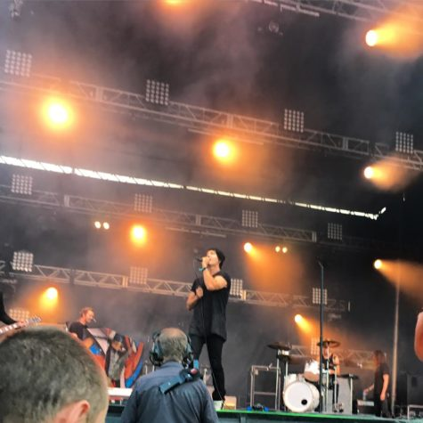 Lead singer, Stephan Jenkins, performing at Bumbershoot.