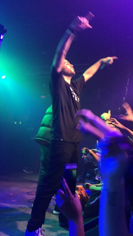 Sam Lachow singing at Neumos on Oct. 16th, 2016