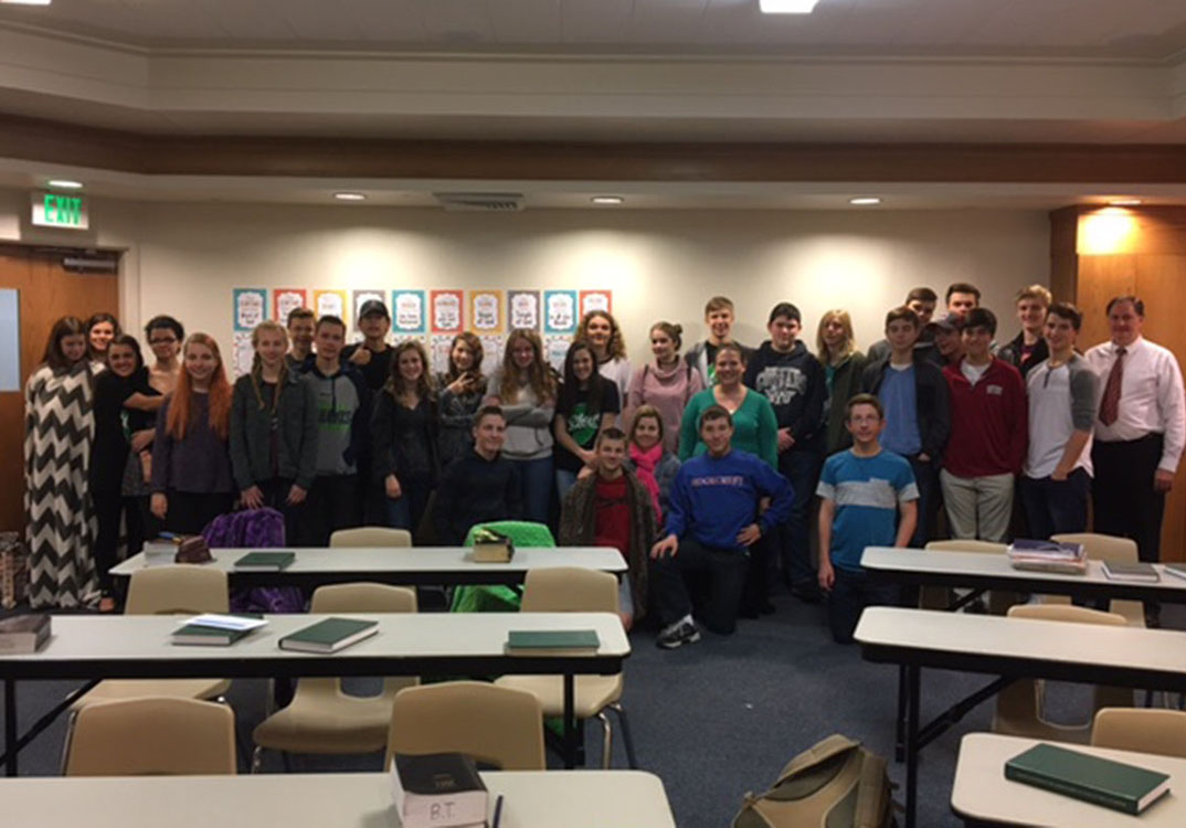 The 6am Seminary class at The Church of Jesus Christ of Latter Day Saints.