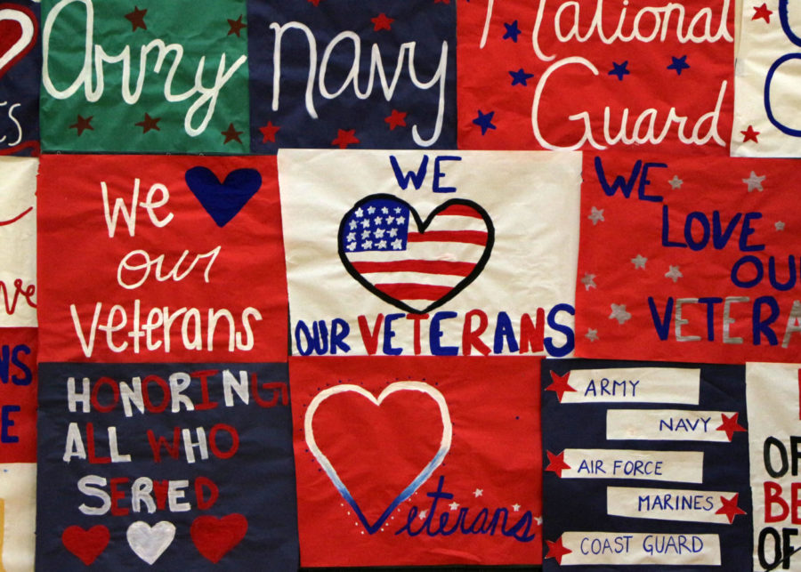 Veteran's Day posters created by Peninsula's leadership class