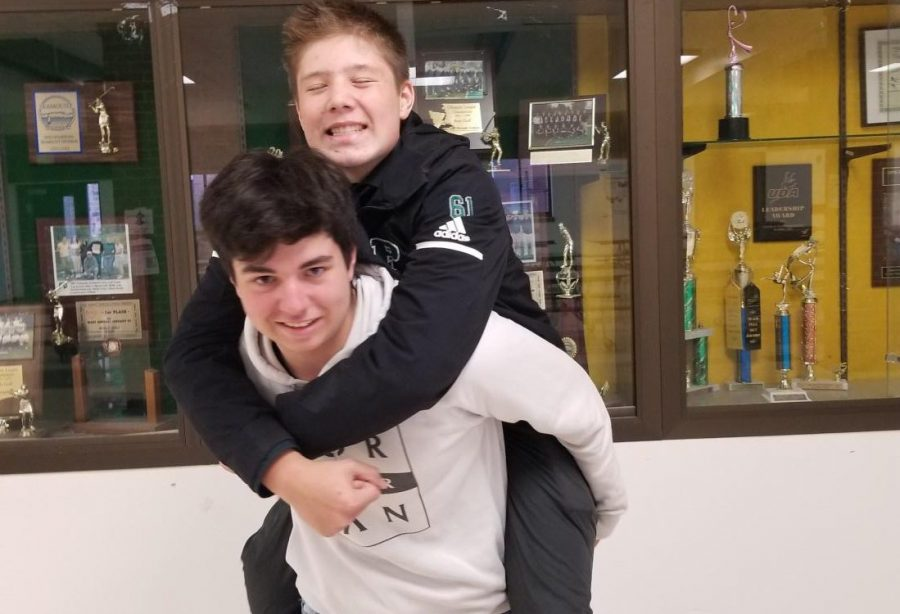 Lucas Urvina and Caleb Novak excited for high school