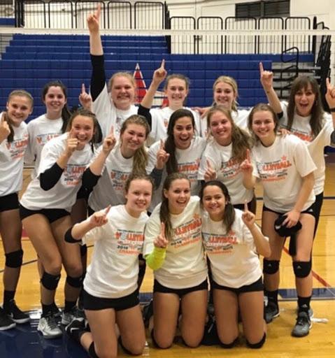 Peninsula High School Varsity Volleyball team wins tournament.