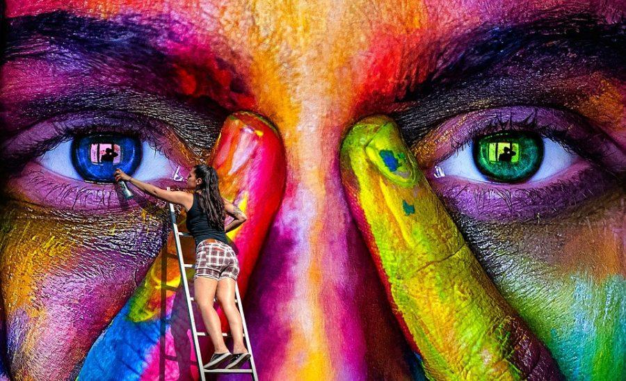 Wall Art Spray Graffiti Woman