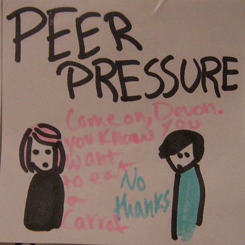 Peer pressure drawing in high school