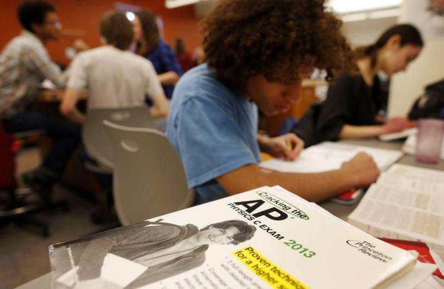 Student taking AP exams